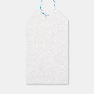 Negro y etiqueta del regalo del navidad de la tela etiquetas para regalos
