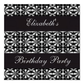 Negro y fiesta de cumpleaños gótica de la anuncios personalizados