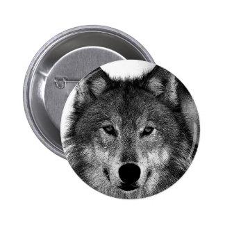 Negro y ilustraciones de White Wolf Chapa Redonda De 5 Cm
