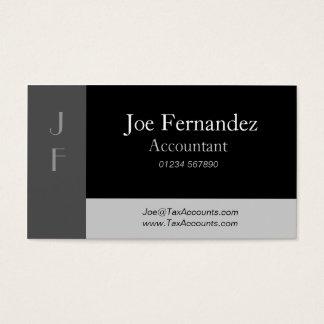 Negro y L grises tarjeta de visita profesional