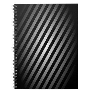 Negro y libreta de la plata/diario rayados