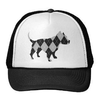 Negro y mientras que camiseta del perro de Argyle  Gorros