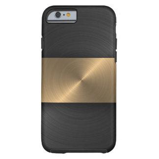 Negro y oro funda de iPhone 6 tough