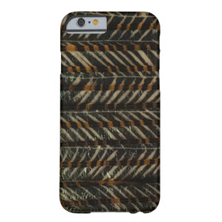 Negro y oro horizontales funda barely there iPhone 6