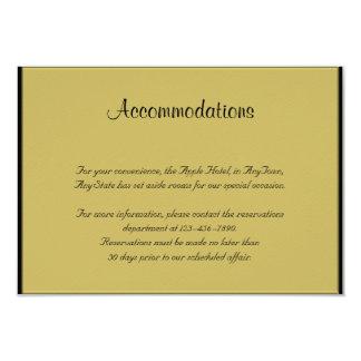 Negro y parte movible del boda del piano del oro invitación 8,9 x 12,7 cm