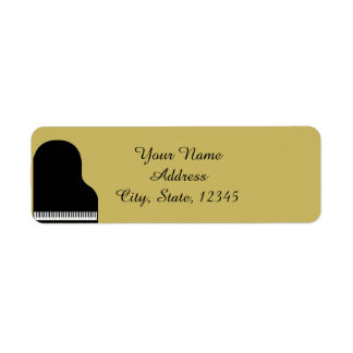 Negro y piano del oro que casa el remite etiqueta de remitente