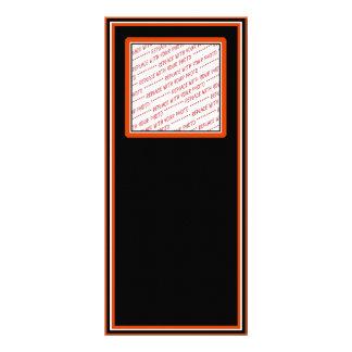 Negro y plantilla arreglada naranja de la foto lona publicitaria