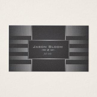 Negro y plata metálicos tarjeta de visita