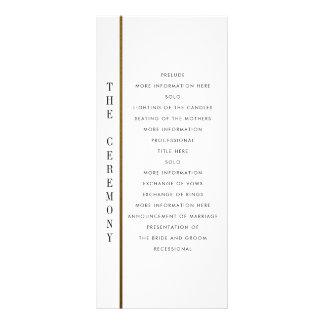 Negro y programa de encargo del boda del oro el   lonas personalizadas