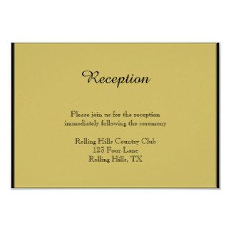 Negro y recepción nupcial del piano del oro invitación 8,9 x 12,7 cm