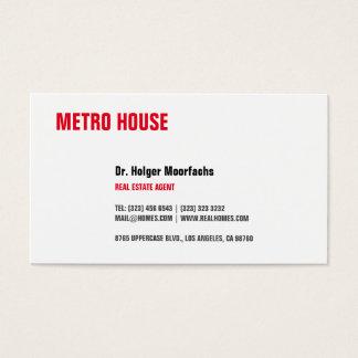 Negro y rojo de las propiedades inmobiliarias tarjeta de visita