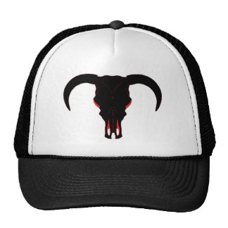 Negro y rojo del cráneo de Bull Gorro