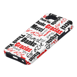 Negro y rojo gracias redactar la nube iPhone 5 Case-Mate protector