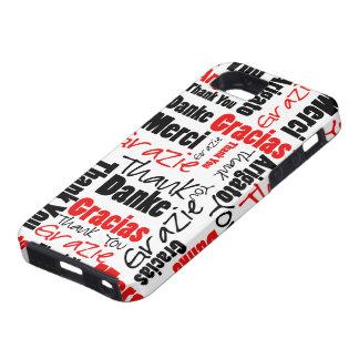 Negro y rojo gracias redactar la nube funda para iPhone SE/5/5s