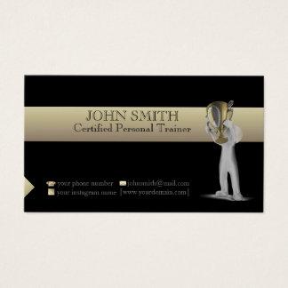 Negro y tarjeta de visita de la plantilla del oro
