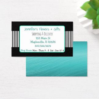 Negro y tarjeta de visita de la turquesa