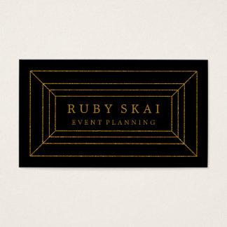 Negro y tarjeta de visita elegante de la piedra