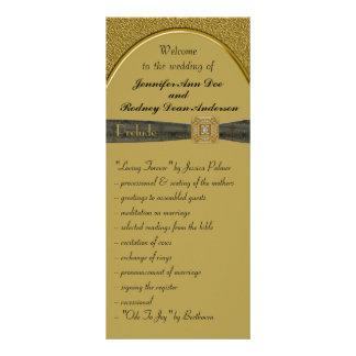 Negro y tarjeta del estante del programa del boda
