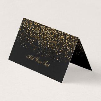 Negro y tarjetas del lugar del confeti el | del