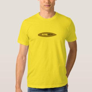 Neón de la hawaiana camisetas