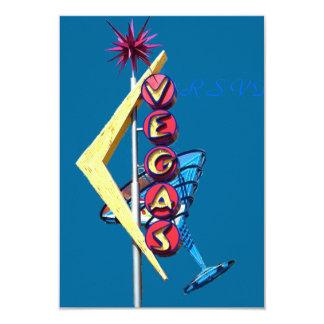 Neón Las Vegas del vintage de RSVP Invitación 8,9 X 12,7 Cm