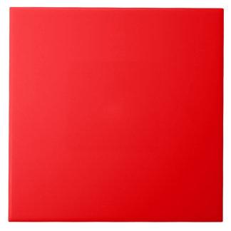 Neón rojo fluorescente brillante azulejo cuadrado grande