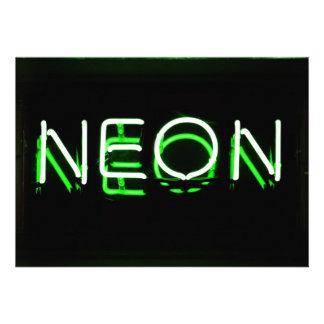NEÓN - señal de neón verde