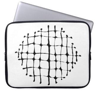 Neopreno blanco y negro moderno de la explosión de funda para portátil