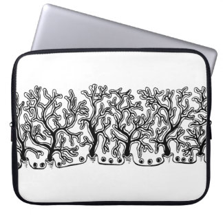 Neopreno blanco y negro moderno de la yuca funda para portátil