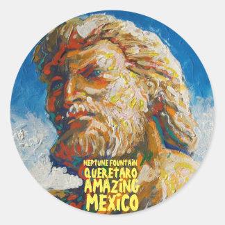 Neptuno - pegatina de México que sorprende