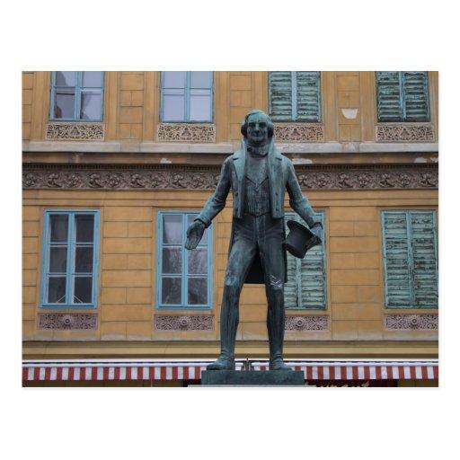 Nestroy Denkmal, Viena Austria Postales