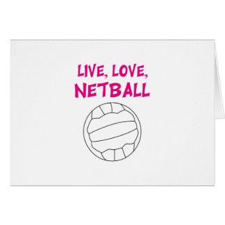 Netball vivo del amor tarjeta