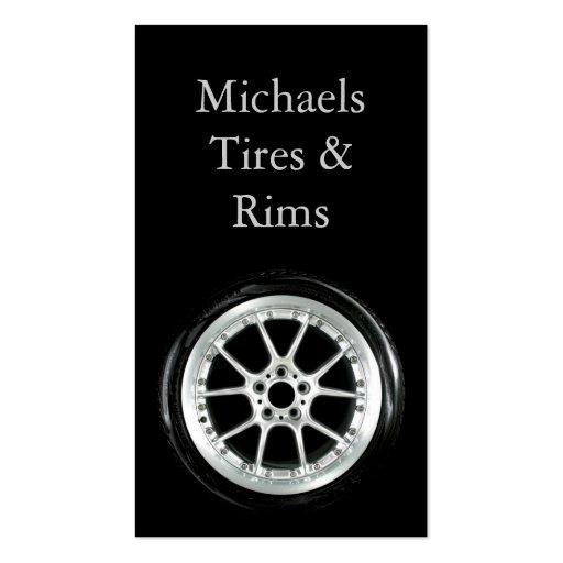 Neumático y bordes tarjeta de visita