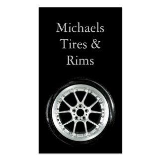 Neumático y bordes tarjetas de visita