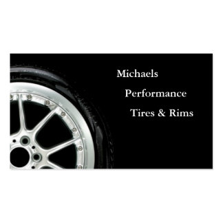 Neumáticos automotrices y ventas del borde tarjetas de visita