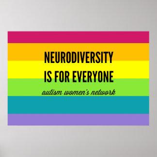 Neurodiversity es para cada uno poster (el arco póster