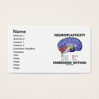 Neuroplasticity encajó dentro (la anatomía del tarjeta de negocios