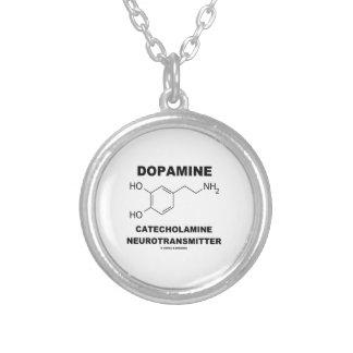 Neurotransmisor de la catecolamina de la dopamina colgante redondo