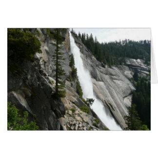 Nevada cae en el parque nacional de Yosemite Tarjeta De Felicitación
