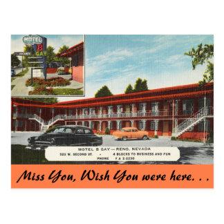 Nevada, gay del motel B, Reno Postales