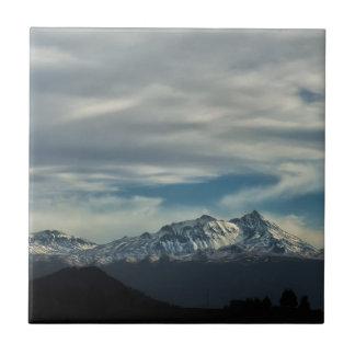 Nevado de Toluca Azulejo Cuadrado Pequeño