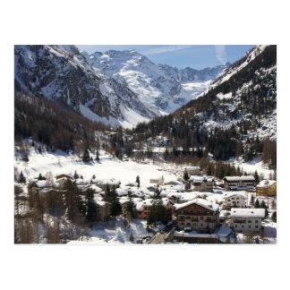 Nevado precioso Lillaz en la postal italiana de