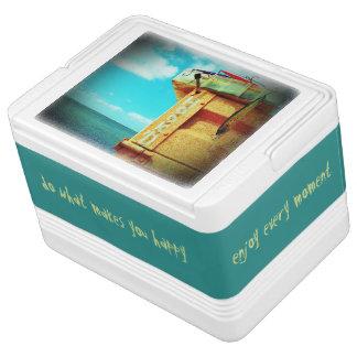 Nevera Para Bebidas Aguamarina de la caja de aparejos de los pescados