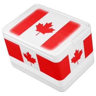 Nevera Para Bebidas Bandera nacional patriótica de CANADÁ