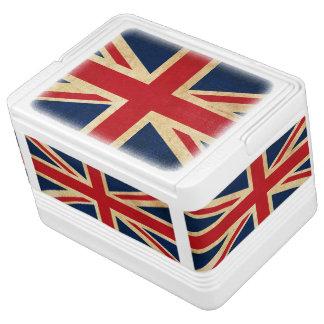 Nevera Para Bebidas Bandera vieja Union Jack de Reino Unido del Grunge