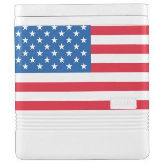 Nevera Para Bebidas Barras y estrellas de la bandera de los E.E.U.U.