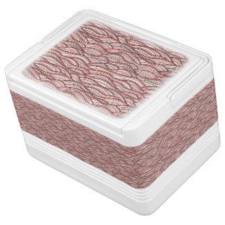 Nevera Para Bebidas Modelo de ondas abstracto rosado. Textura del mar
