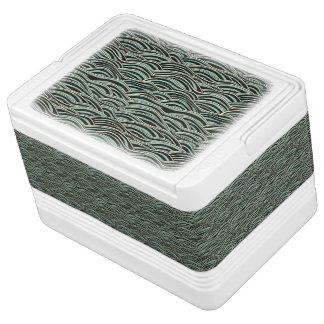 Nevera Para Bebidas Modelo de ondas abstracto verde. Textura del mar
