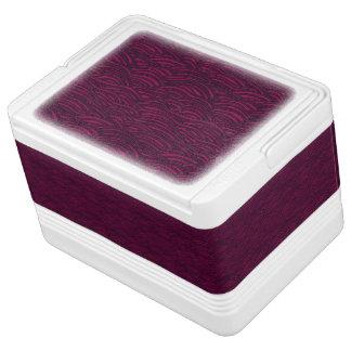 Nevera Para Bebidas Modelo de ondas púrpura. Textura del mar
