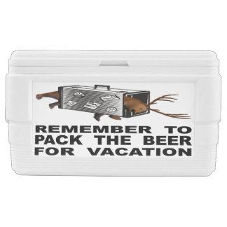 Nevera Recuerde embalar la cerveza para las vacaciones